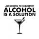 Alcohol is a solution funny t-shirt white