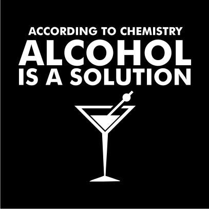 Alcohol is a solution black