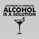 Alcohol is a solution grey