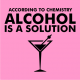 Alcohol is a solution light pink