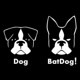 BatDog funny t-shirt Black