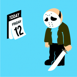 friday the 12th sky blue