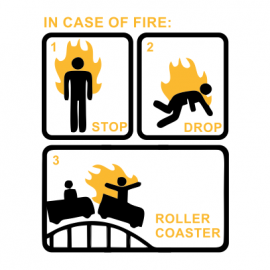 in case of fire white