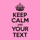 keep calm light pink
