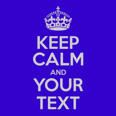 keep calm royal blue