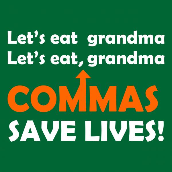 lets eat grandma bottle green