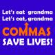 lets eat grandma royal blue