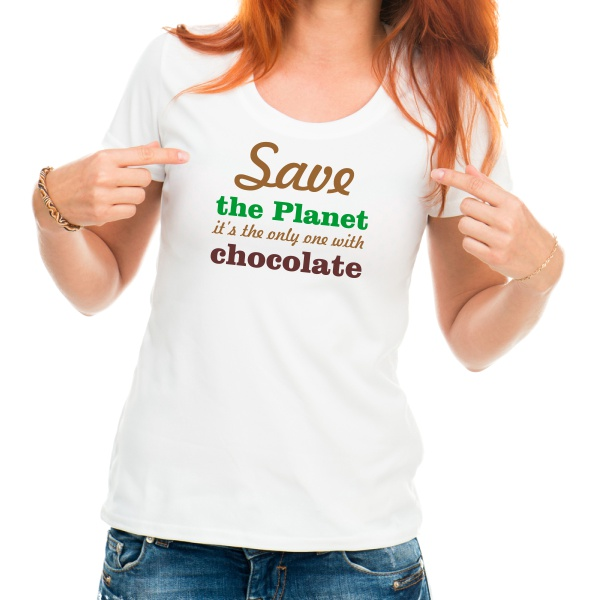 save the planet funny t-shirt woman