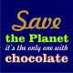 save the planet navy blue