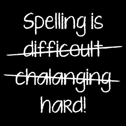 spelling is black