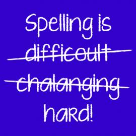 spelling is royal blue