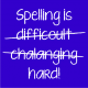 spelling is royal blue