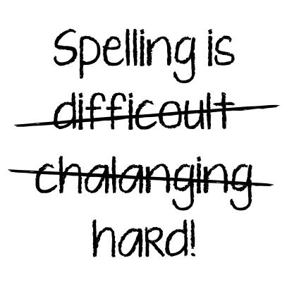 spelling is white