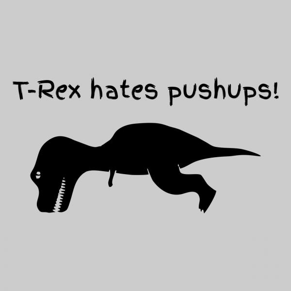 t rex hates grey