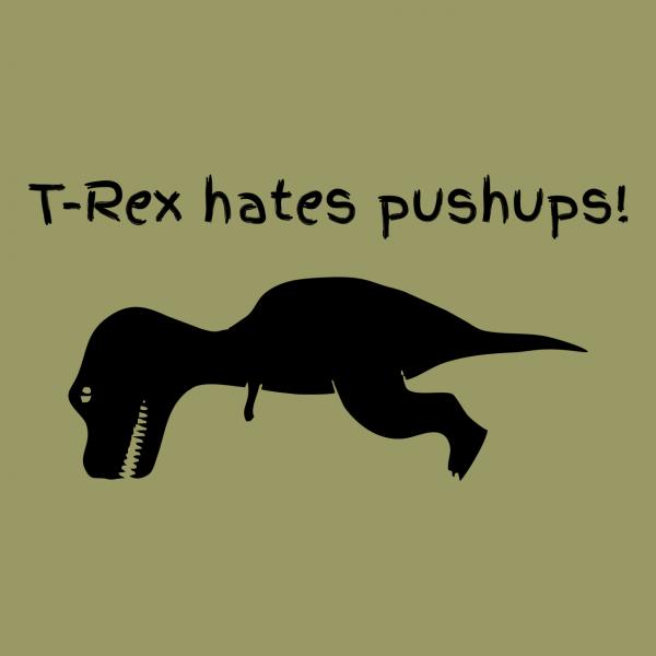 t rex hates khaki