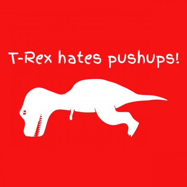 t rex hates red