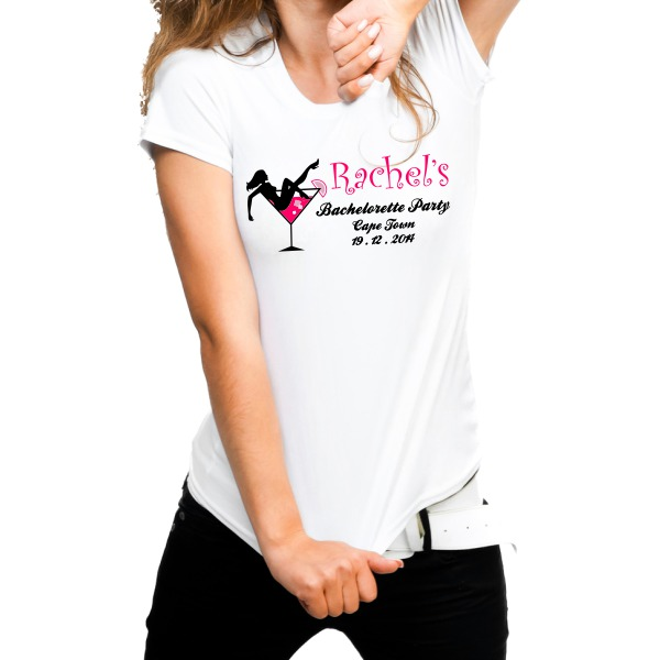 CUSTOMIZED bachelorette party t-shirt female