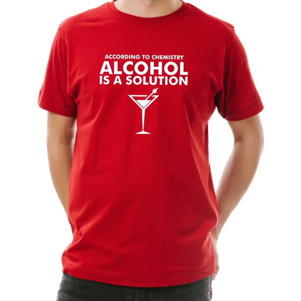 alcohol is a solution funny t-shirt guy