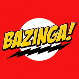 bazinga t-shirt red