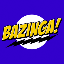 bazinga royal blue