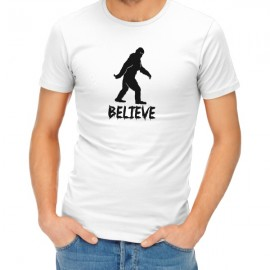 believe sasquatch halloween t-shirt guy