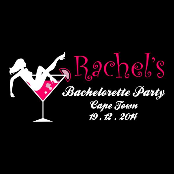 customized bachelorette party t-shirt black