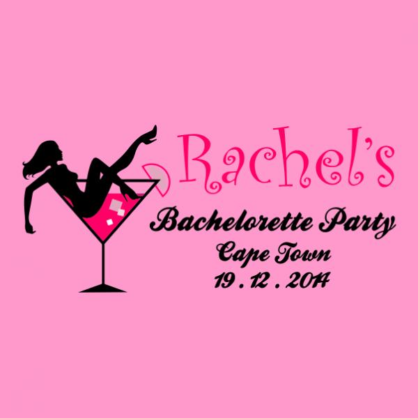 customized bachelorette party t-shirt light pink