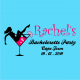 customized bachelorette party t-shirt sky blue