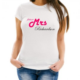 future mrs CUSTOMIZED bachelorette t-shirt female