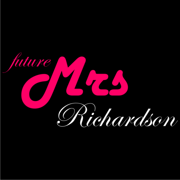 future mrs customized bachelorette t-shirt black