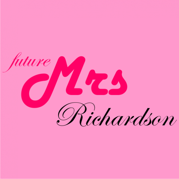 future mrs customized bachelorette t-shirt light pink