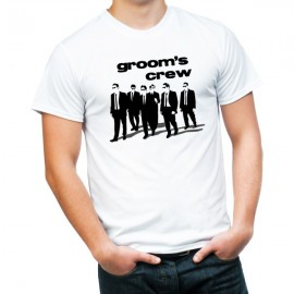 grooms crew main bachelors t-shirt guy