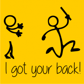 i got your back funny t-shirt yellow