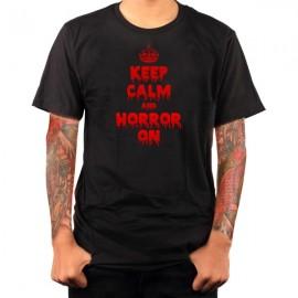 keep calm halloween t-shirt guy