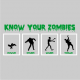 know your zombies halloween t-shirt grey