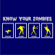 know your zombies halloween t-shirt navy