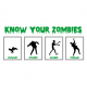 know your zombies halloween t-shirt white