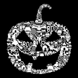 pumpkin halloween t-shirt black