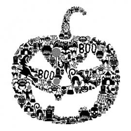 pumpkin halloween t-shirt white