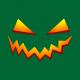 pumpkin smile halloween t-shirt bottle green