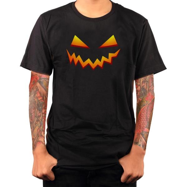 pumpkin smile halloween t-shirt guy