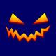 pumpkin smile halloween t-shirt navy