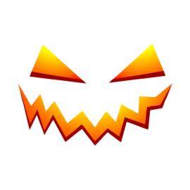 pumpkin smile halloween t-shirt white