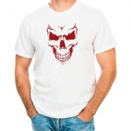 skull face halloween t-shirt guy