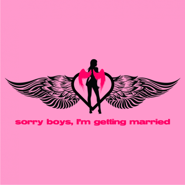 sorry boys bachelorette t-shirt light pink