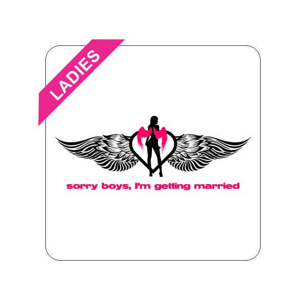 sorry boys bachelorette t-shirt main