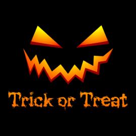 trick or treat halloween t-shirt black