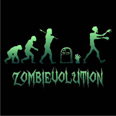 zombievolution halloween t-shirt black