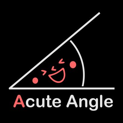acute angle black
