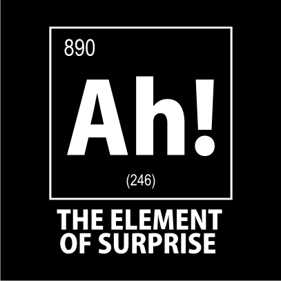 ah the element of surprise nerdy t-shirt black